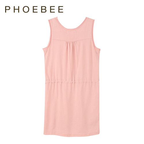 2015 new phoebee famous brand dress for girls Casual summer kids clothing set casual Sleeveless girls Dresses summer style dress(China (Mainland))