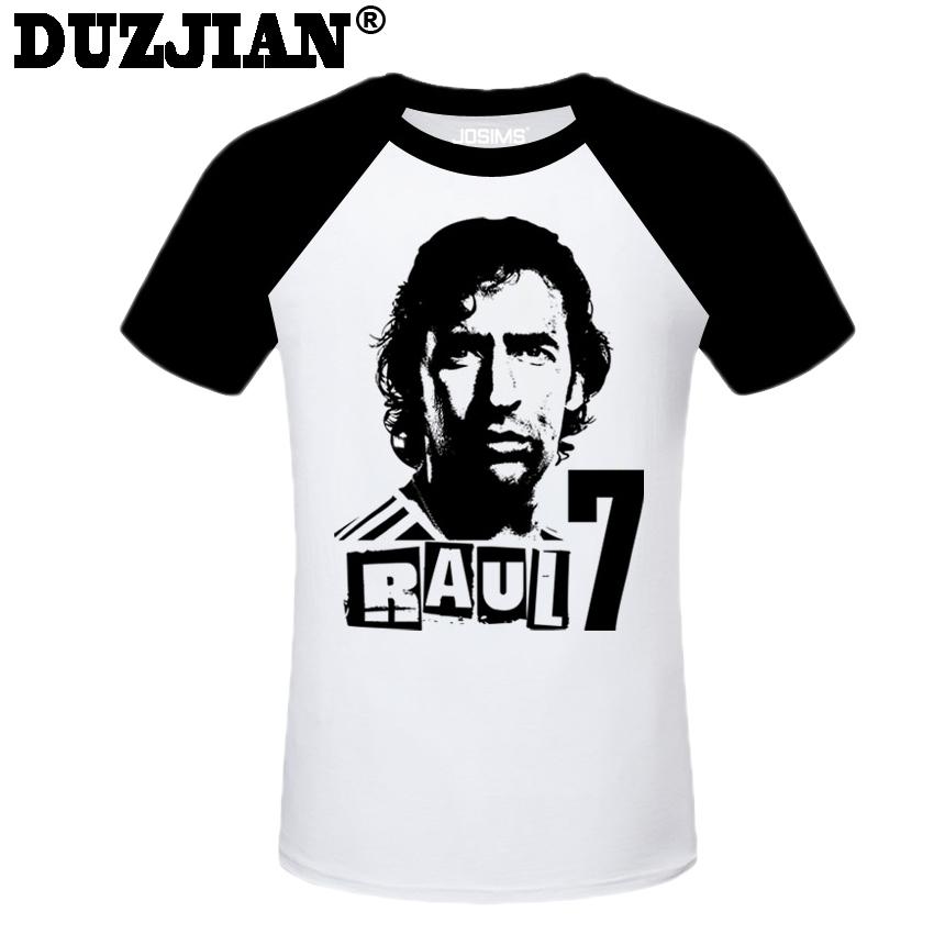 DUZJIAN Summer World Cup Raul Gonzalez men's T-shirt man t shirt summer 2016 child bodybuilding t-shirt survetement footbal(China (Mainland))