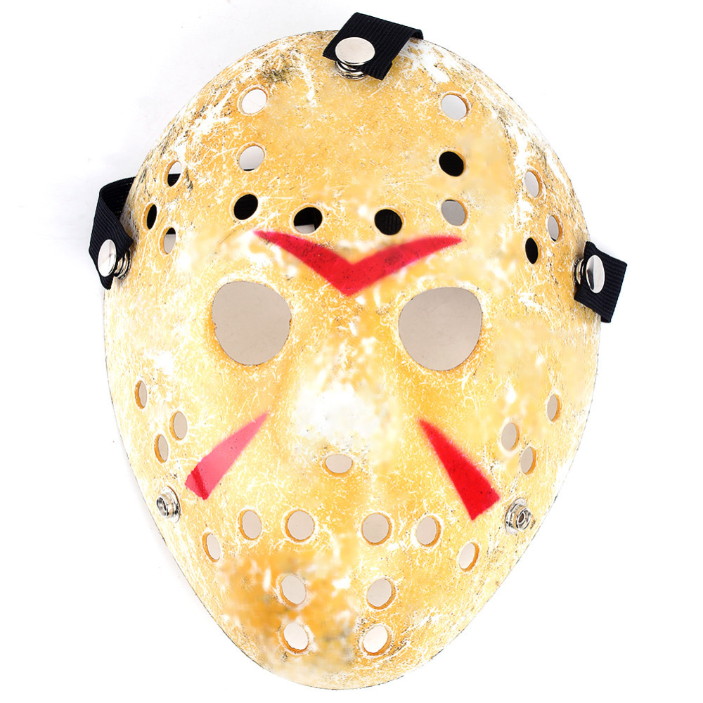 Gold Vintage Party Masks Delicated Jason Voorhees Freddy Hockey Festival Halloween Masquerade Mask - Welcome, Sweet Home store