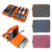 "Brand Digital Accessories Storage Bag,Cable Organizer, Hard Drive Disk Cables USB Flash,Case For ipad Air 9.7"" Tablet Free Ship(China (Mainland))"