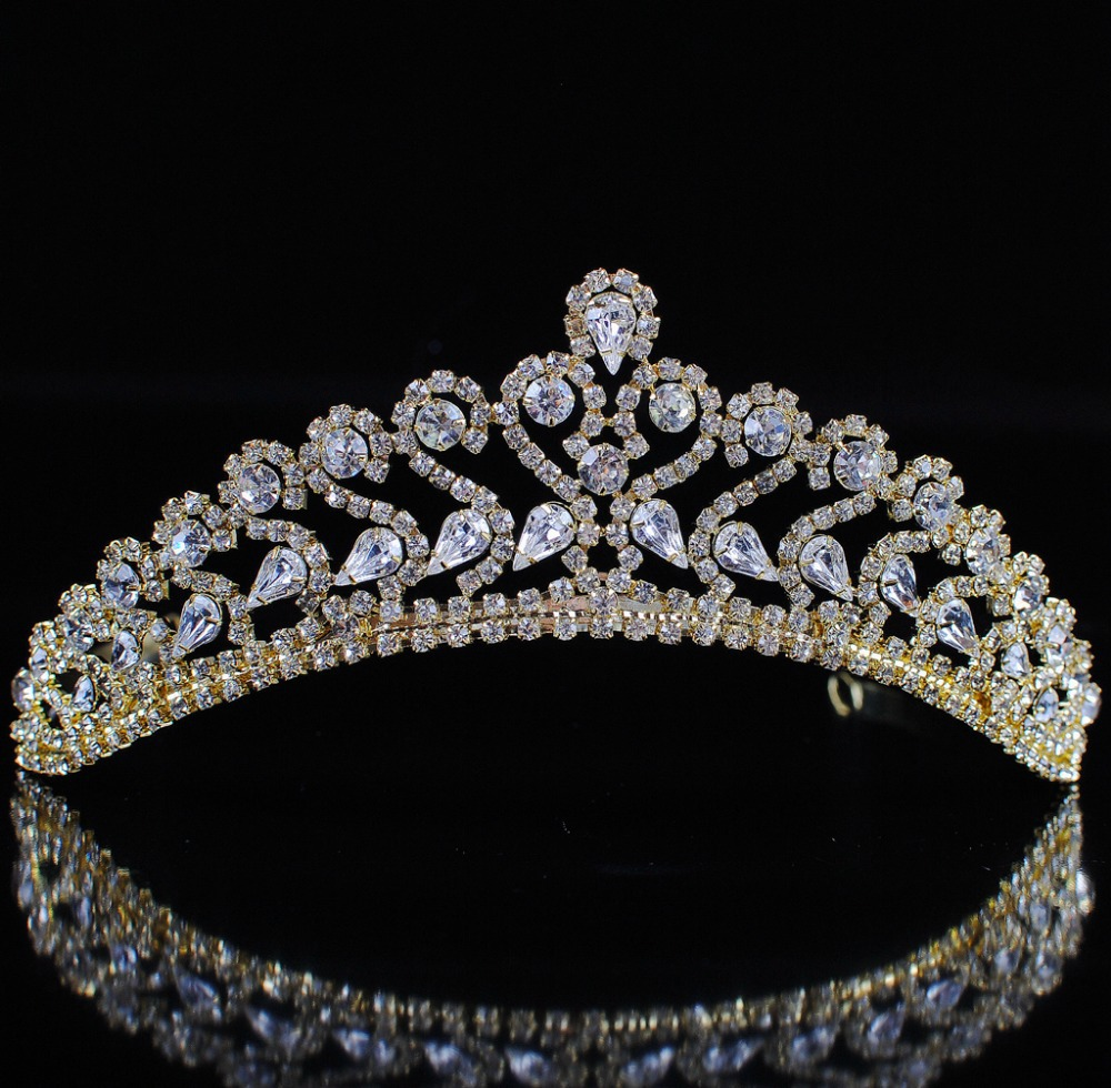 تيجان ملكية  امبراطورية فاخرة Ornate-font-b-Flower-b-font-font-b-Tiaras-b-font-Austrian-Rhinestones-Floral-Crowns-Clear