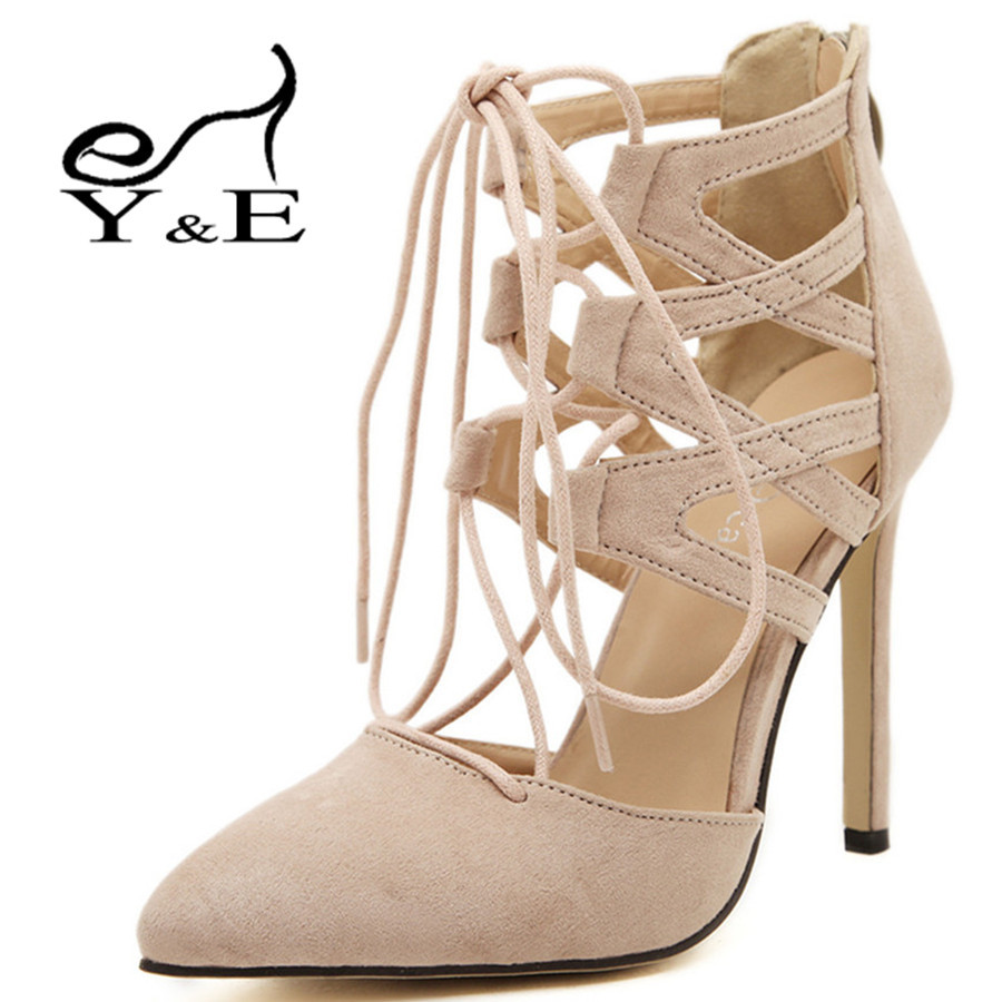 Nude Lace High Heels | Tsaa Heel