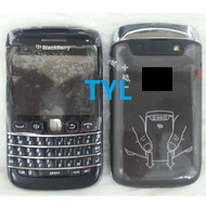 For Blackberry 9790 Full Housing For BB 9790 Battery Cover Black Housings Faceplates (with logo) 1 piece free shipping(China (Mainland))