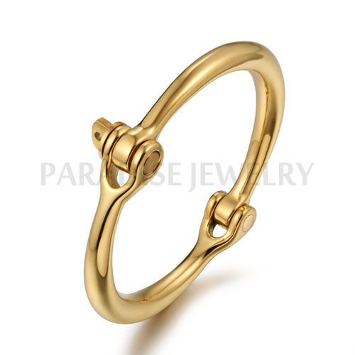 PARADISE JEWELRY screw bracelet silver bangle bracelets women cuff fashion gold stainless steel - CO.,LTD store