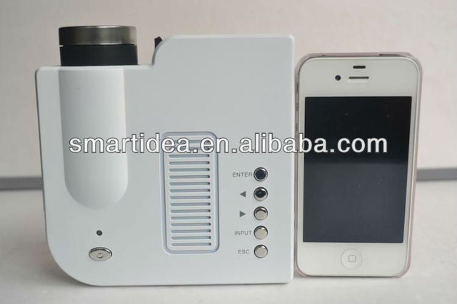 Factory price! Protable Pocket Mini Game Digital LED VGA Video Projector with remote control ports VGA, AV, USB, SD Card
