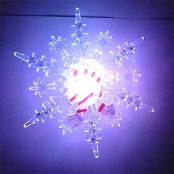 freeshipping 10pcs/lot Battery Operated christmas light, Christmas Gift snowflake santa claus, Christmas decoration Slow RGB !