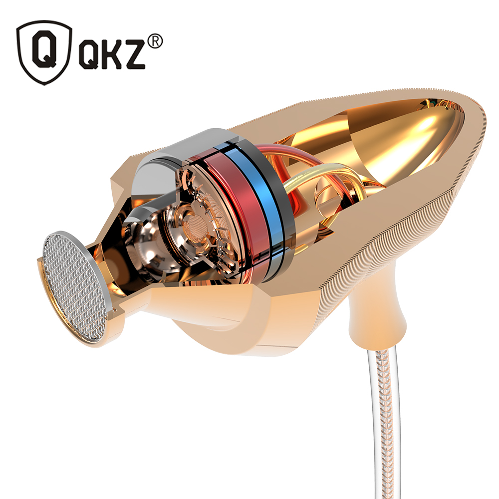 QKZ X7 Earphone Super Bowl Tuning Nozzles T Shaped Driver Monitoring In Ear Earphone HiFi Earphone With Microphone Transparent(China (Mainland))
