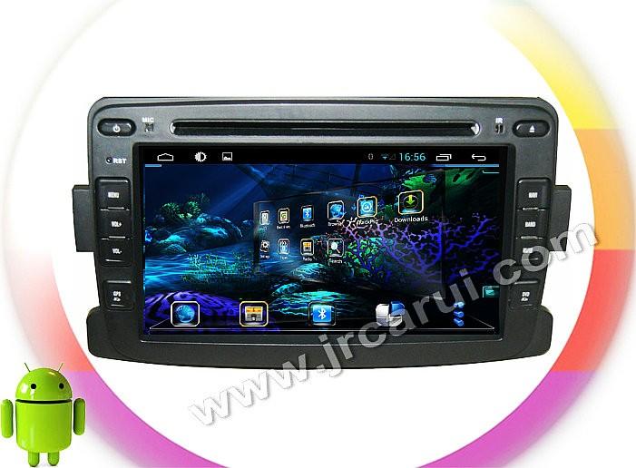Купить Quad Core Android 4.4 игрок Автомобиля DVD GPS ДЛЯ RENAULT Duster/Logan Quad Core A9 1.6 ГГц автозвук мультимедиа автомобиля стерео