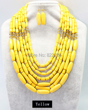 Acrylic Bead Necklace Wholesale New Fashion Classic Statements Chokers Jewelry For Women With Earring 6990