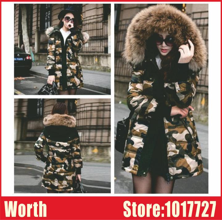 Thick Warm Women Big Fur Collar Winter jacket Woman Outerwear Slim Hooded Duck Jacket Long Coat Plus Size - WORTH CO., LTD store