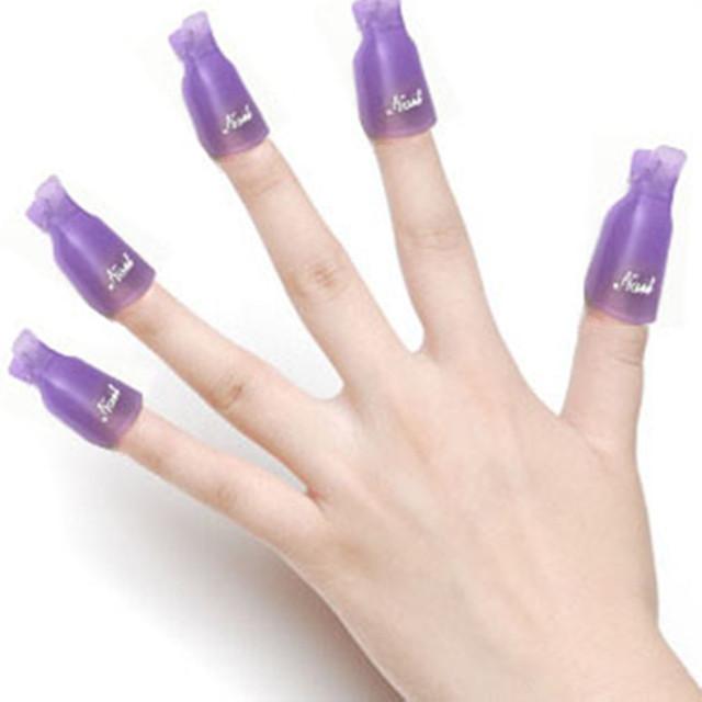 Новый уф-гель ногтей для снятия лака обернуть инструмент 10 шт./лот пластиковые ногтей выдерживает с колпачок клип бесплатная доставка