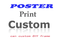 Custom Customized Poster and Print Wall Art Movie Canvas Picture Oil Paint by Number for Living