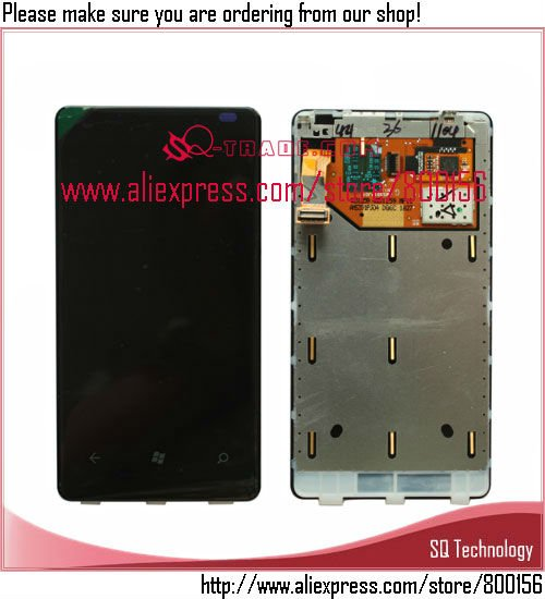 100% Guarantee LCD for Nokia Lumia 800 N800 Display with Touch Screen Digitizer Assembly free shipping