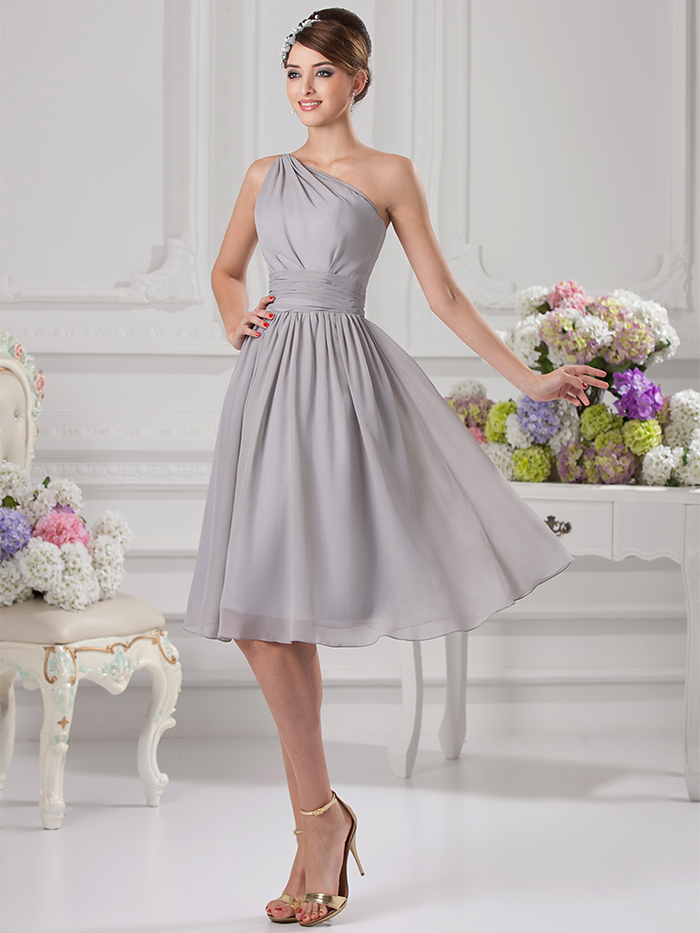 Popular gray dresses for bridesmaids buy cheap gray for Informal wedding dresses under 100