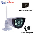 WIfi IP camera support micro SD card network wired wireless IP cam webcam outdoor waterproof for