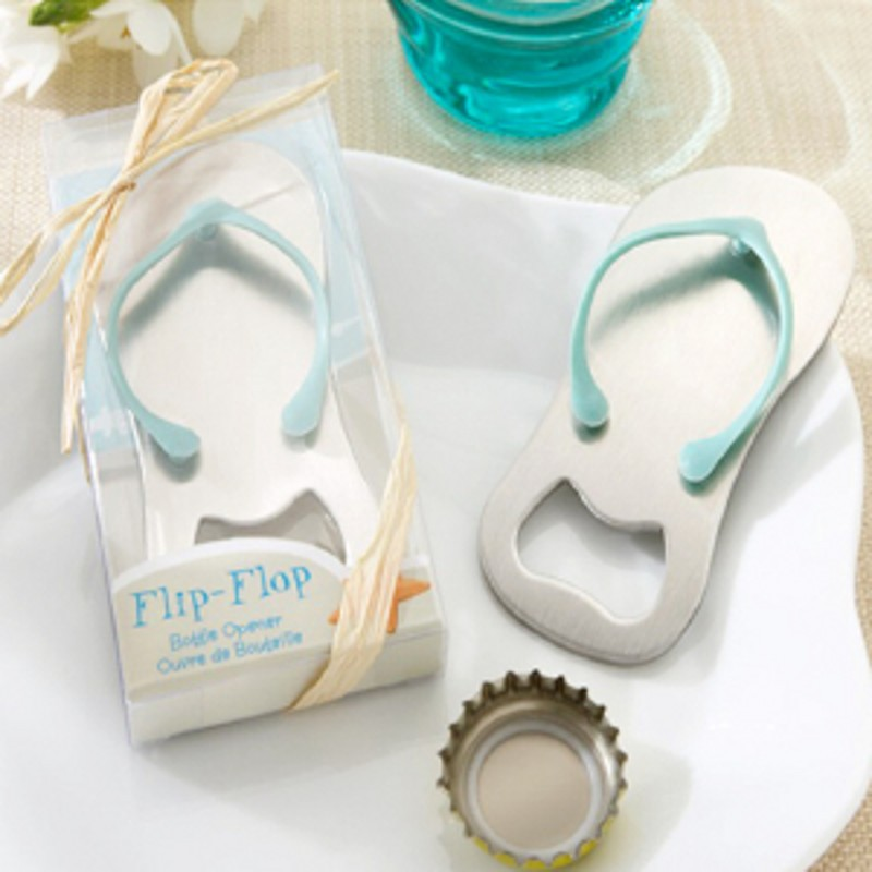 Creative Flip Flop Beach Thong Bottle Opener For Birthday Bridal Shower Wedding Bomboniere Christmas Party Favor Gift(China (Mainland))