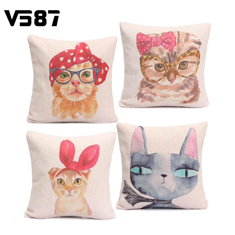 Buy cute cat cartoon pillow case zippered for Sweethome best pillow