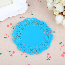 New Fashion Flower Elegant Silicone Placemat Table Mat Bowl Holder Coasters Skidproof Cushion Drinks Holder(China (Mainland))