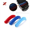 3 Colors ABS 3D M Car Styling Front Grille Trim Strips Cover Motorsport Stickers For BMW