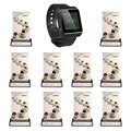SINGCALLwaiter calling system 1 SINGCALL watch pager APE6800 and 10 wireless call buttons 3 options
