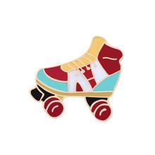 Shshd Kartun Sepatu Skateboard Bros Medali Olahraga Huruf Enamel Pin Pria Wanita Jaket Kerah Pin Lencana Perhiasan Koleksi(China)