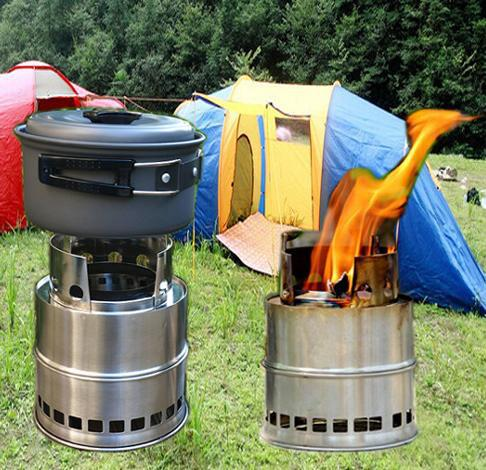 Portable outdoor cooking utensils fireweeds stainless steel furnace split picnic stove windproof fireweeds alcohol dual(China (Mainland))