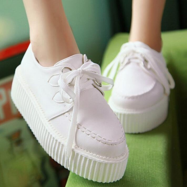 Motorcycle personality belt buckle high shoes fashion platform shoes casual shoes falt shoes Lace-Up(China (Mainland))
