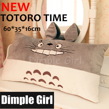 HOT NEW CUTE rectangular long TOTORO pillow plush toy japanese style kawaii stuffed animal novelty item for christmas gift idea(China (Mainland))