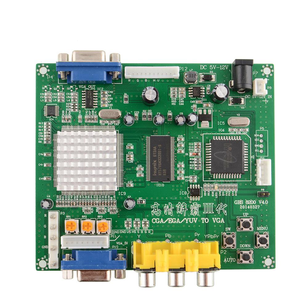 GBS8200 ARCADE GAME CONVERTER Board CGA RGB EGA VGA to VGA to LCD Latest(China (Mainland))