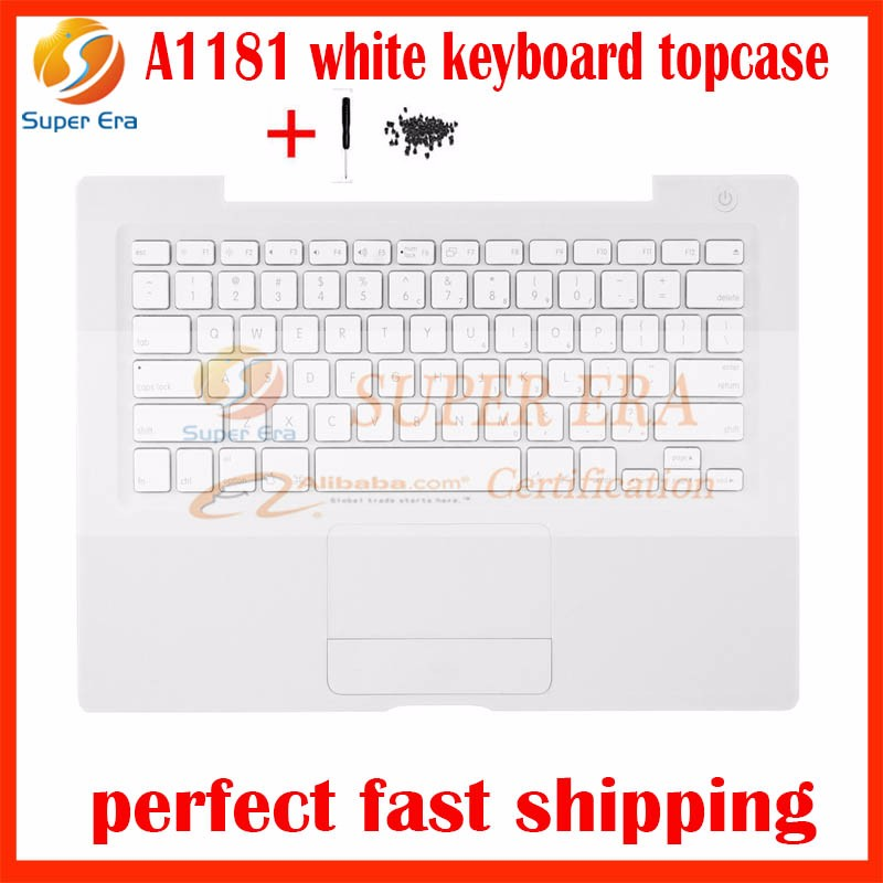 "95% NEW US USA white A1181 Top Case For Apple Macbook 13"" A1181 Top Case With US Keyboard And Trackpad Touch Pad Replacement"