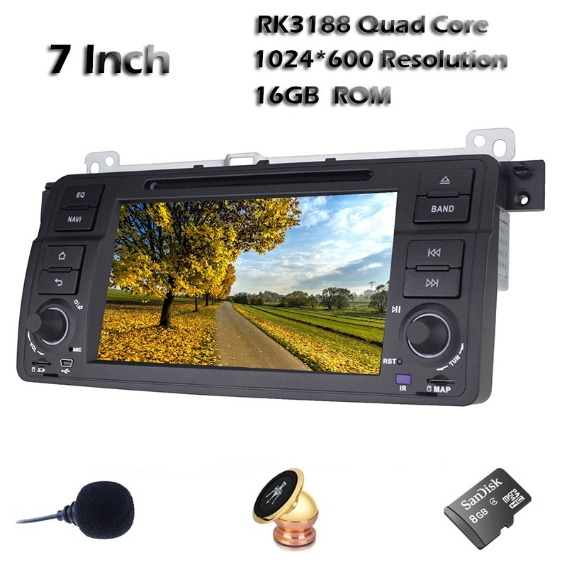 7 INCH Quad Core Android 4.4 Car DVD Player 1024*60 Resolution Car Radio Audio Stereo for BMW E46 M3 with WIFI 3G Mirror link(China (Mainland))