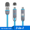 2 in 1 Micro USB with 8 Pin Usb Data Sync Charger Cable for iPhone 6