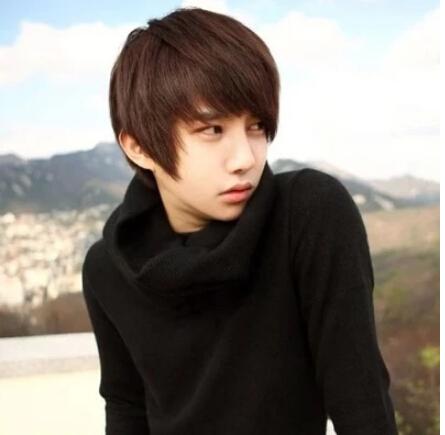 handsome korean style man hair fluffy wig hot boys wig