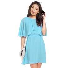 New Fashion Plus Size 6XL 2016 Summer Slim Loose Beach Skater Solid  Dress Chiffon Women Office Vintage Casual Dresses XXXXL 5XL(China (Mainland))