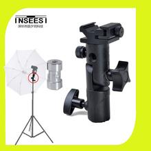 Fomito Factory Block E-type flash bracket umbrella bracket lamp holder  E-type Bracket flash bracket Swivel Light Stand Flash