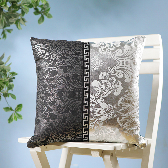 Free Shipping 2014 Direct Selling Hot Sale Cotton Christmas Home Fashion Patchwork Silver Sofa Cover Cushion Set Luxury Core(China (Mainland))