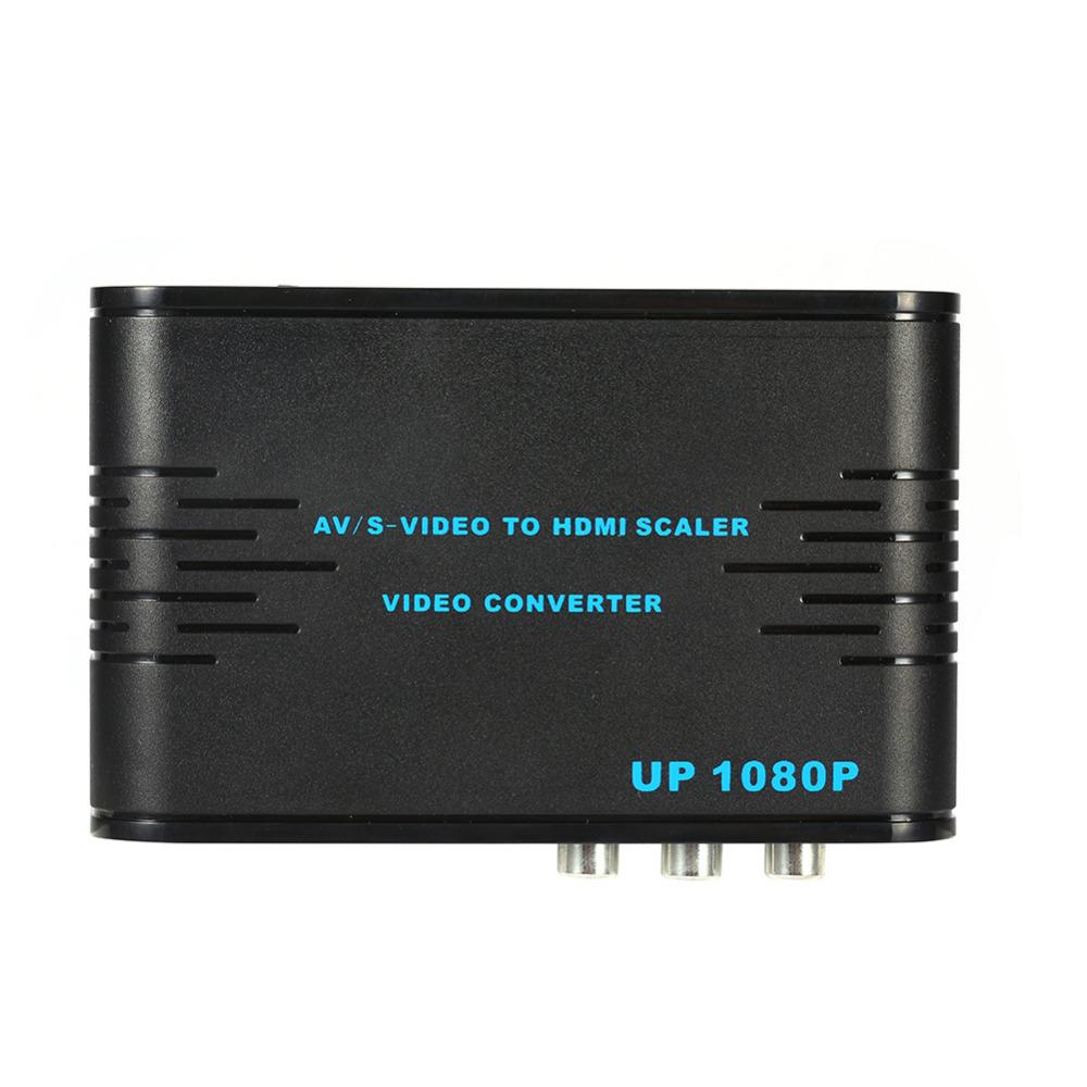 720p 1080p AV/S-VIDEO to HDMI Scaler Video Converter Adaptor Composite(AV/S-Video)+HDMI to HDMI Converter(China (Mainland))
