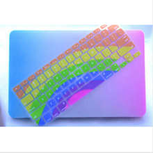 sunflower rainbow Silicone Laptop keyboard Skin Protector Cover film Guard for Apple Macbook Pro Air Retina 13 15 17
