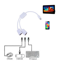 Buy 2 1 Micro USB HUB Male Female Dual USB 2.0 Host OTG Hub Adapter Cable Converter Extender Android Phone Tablet Pc for $1.66 in AliExpress store