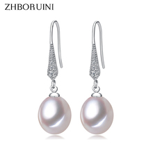Buy ZHBORUINI 2017 Fashion Pearl Earrings Natural Freshwater Pearl Jewelry Dorp Earring 925 Sterling Silver Jewelry Women Gift for $5.78 in AliExpress store