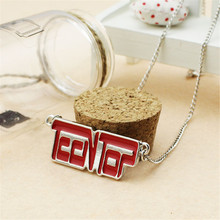 Wholesale KPOP Fan Teentop Teen Top Letter Alloy Men or Women Necklace X1787(China (Mainland))