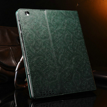 Phoenix Pattern PU Leather case for ipad 3 2 4 New Vintage Smart Cover Stand Flip Muti Colors