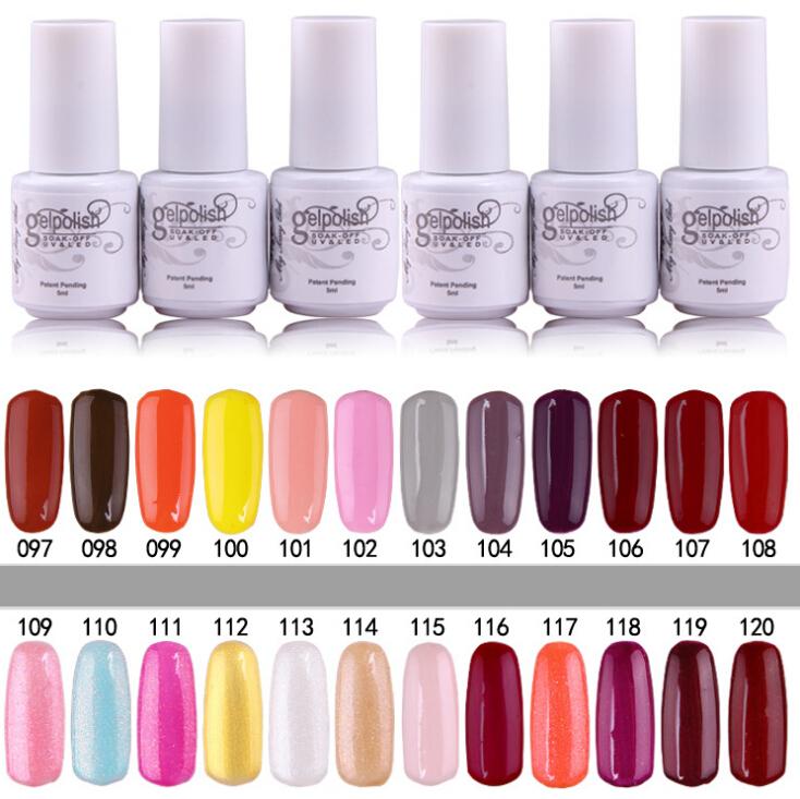 12 Colors Long-lasting Gelpolish Soak UV Nail Gel Polish Art Choosed 168 colors,5ml/pcs Like CANNI - Lisa Liu store