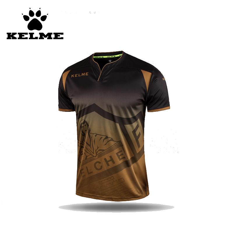 KELME Official Authentic Spanish Soccer Jerseys Men's Short-Sleeve Training Football 2016 Jersey Jogo de Camisas Futebol 49(China (Mainland))