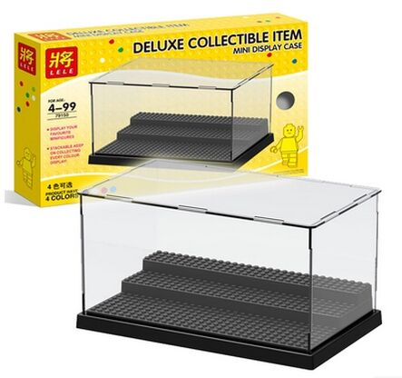 Building Blocks Parts Acrylic Transparent Accommodator Display Box Minifigures Showcase Ladder Cabinets Compatible With legoe(China (Mainland))