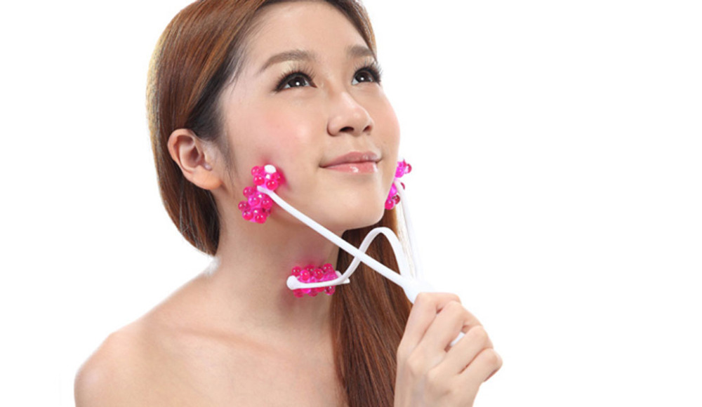2In1 Face Neck Chin Roller Massage Face Care Up Slimming Remove Line Face Massager Beauty Tools(China (Mainland))