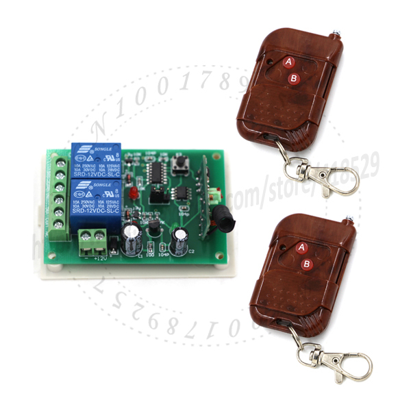 DC12V 10A MOTOR remote control switch forward reversal 315MHZ 2channel RF Linear actuator smart home automation system gate open(China (Mainland))