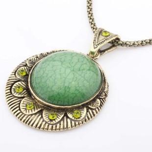 Promotion! Fashion lady women necklaces & pendants jewelry vintage quality green semi-precious stone long SN597 - Shero Shop(Min,order $ 10+Gift store)