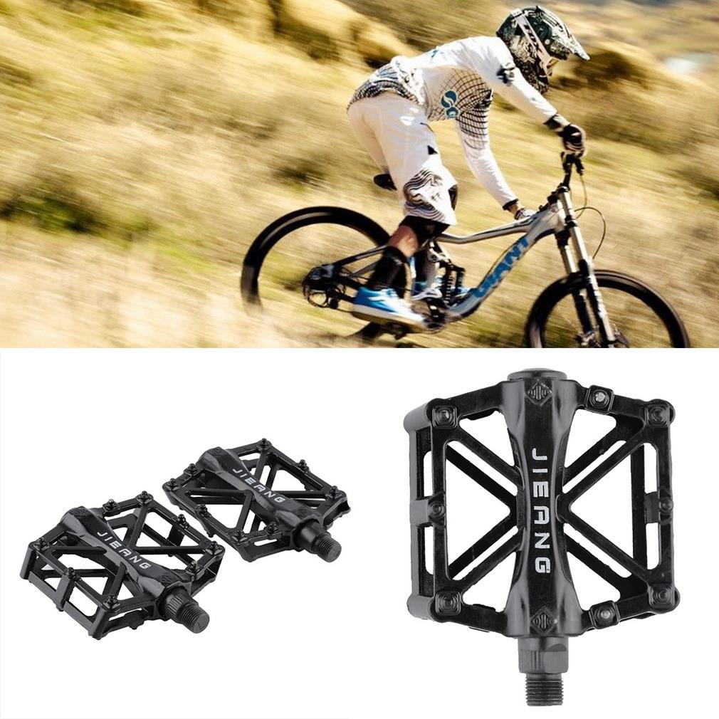 1 Pair Ultralight Aluminum Alloy Bicycle Pedals Mountain Bike Pedal MTB Road Cycling Riding Alloy Wellgo Pedal Treadle Black<br><br>Aliexpress