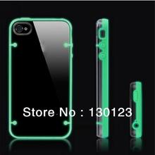 Glow In The Dark Fluorescence TPU Transparent Back Cover Case For Iphone5 5C Cell Phone Accessories red pink blue green black(China (Mainland))